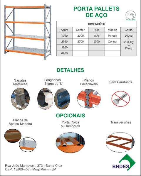Porta Pallets de Aço